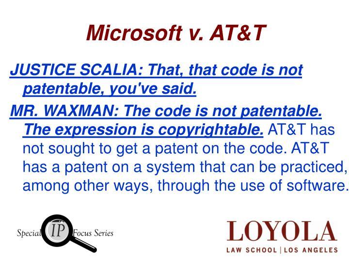 Microsoft v. AT&T