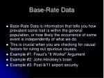 base rate data