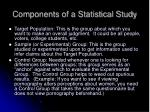 components of a statistical study