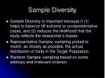 sample diversity