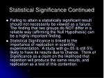 statistical significance continued
