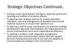 strategic objectives continued