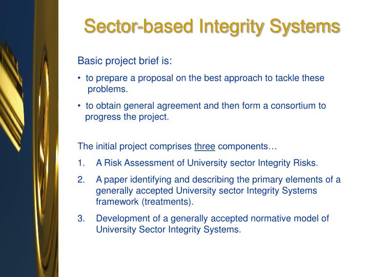 Sector-based Integrity Systems