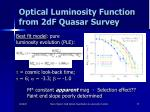 optical luminosity function from 2df quasar survey53