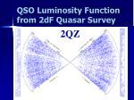 qso luminosity function from 2df quasar survey