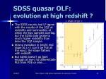 sdss quasar olf evolution at high redshift