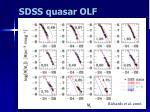 sdss quasar olf