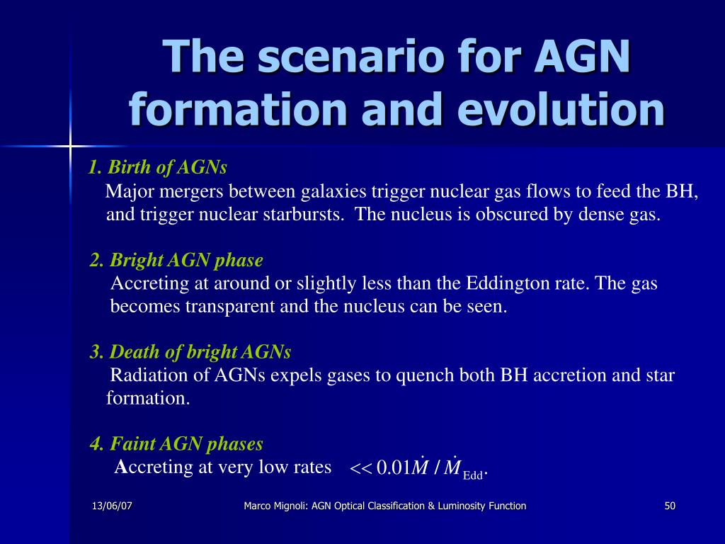 1. Birth of AGNs