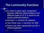 the luminosity function34