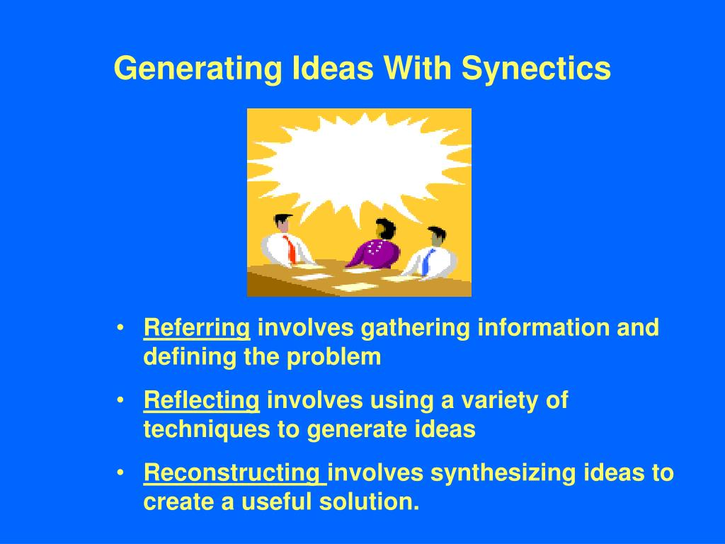 Generating Ideas With Synectics