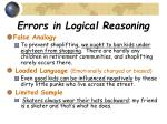 errors in logical reasoning10