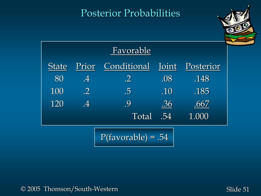 Posterior Probabilities