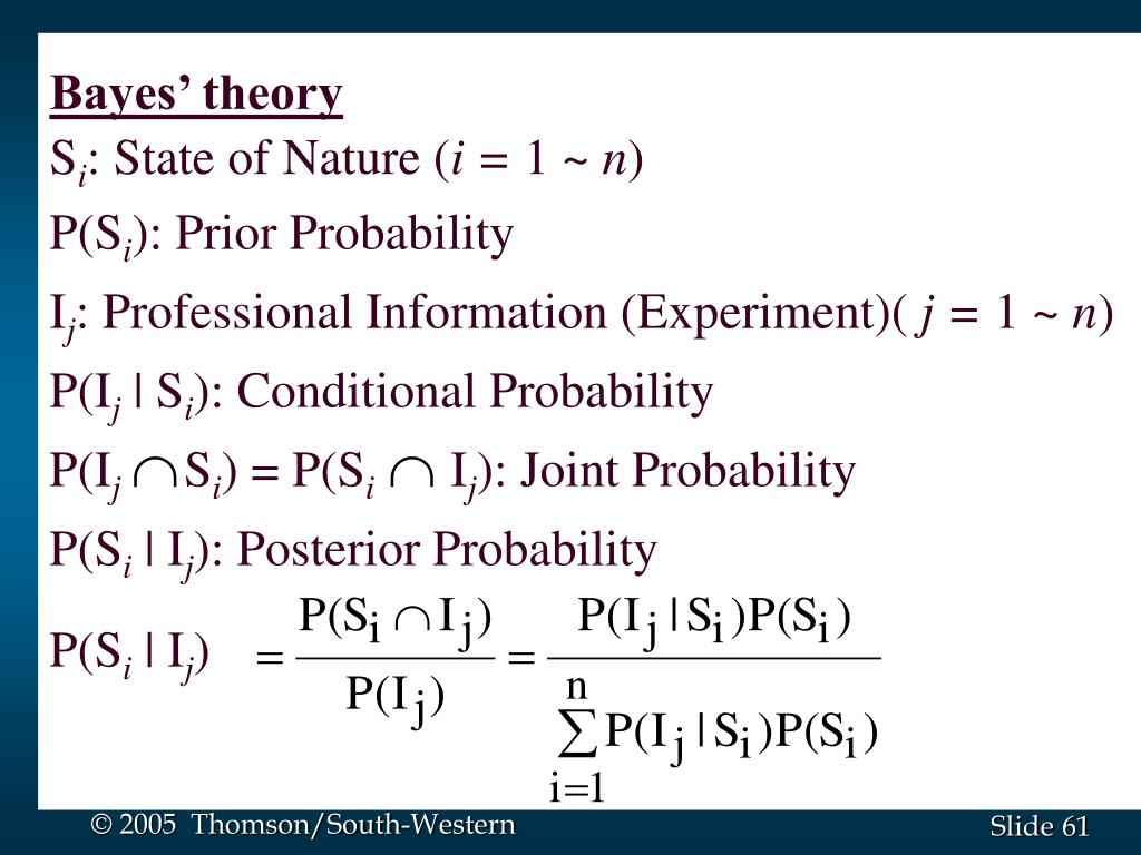 Bayes' theory