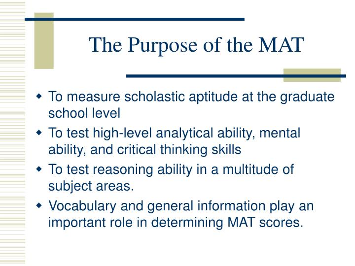 The purpose of the mat3