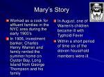 mary s story