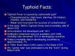 typhoid facts