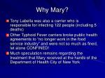 why mary
