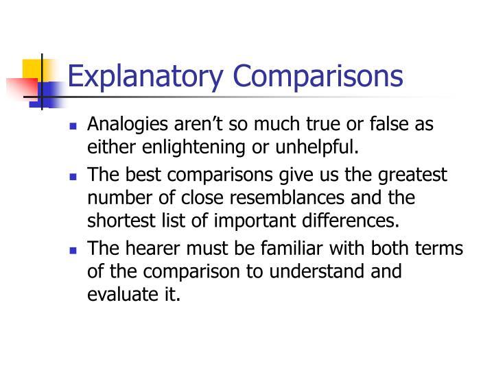 Explanatory Comparisons