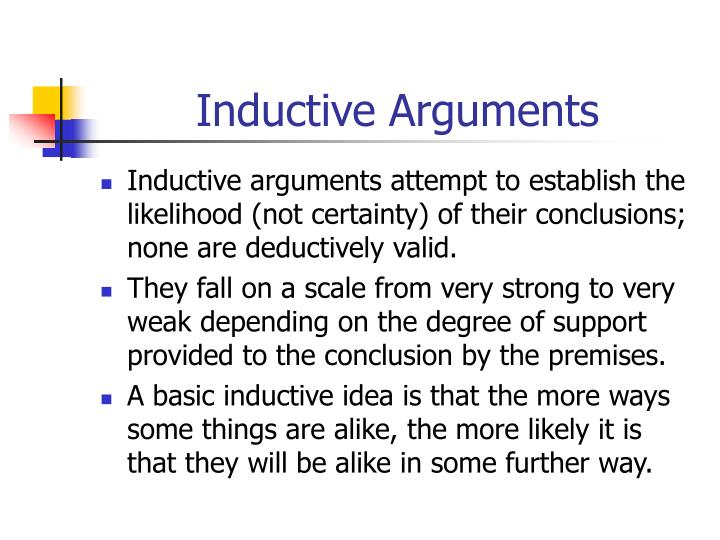 Inductive Arguments