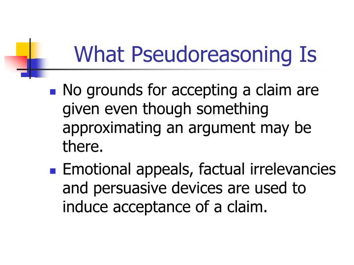 What Pseudoreasoning Is