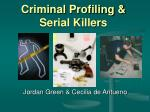 criminal profiling serial killers