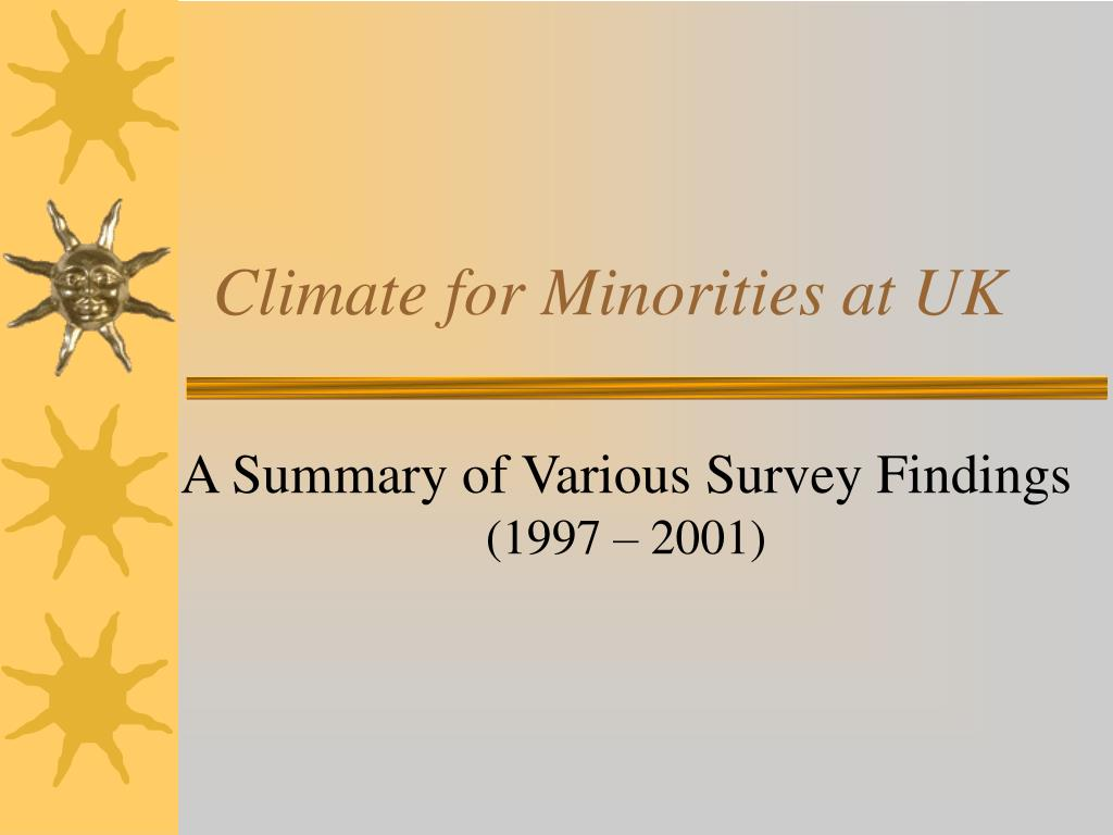 climate for minorities at uk l.