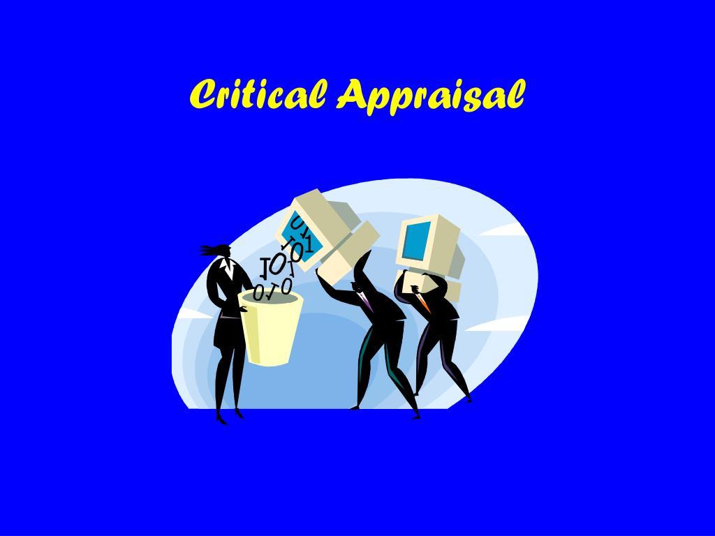 critical appraisal l.