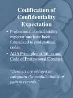 codification of confidentiality expectation