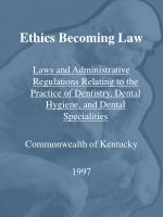 ethics becoming law