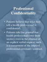 professional confidentiality