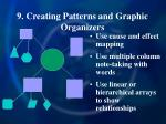 9 creating patterns and graphic organizers