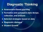 diagnostic thinking