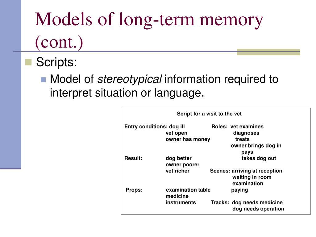 Models of long-term memory