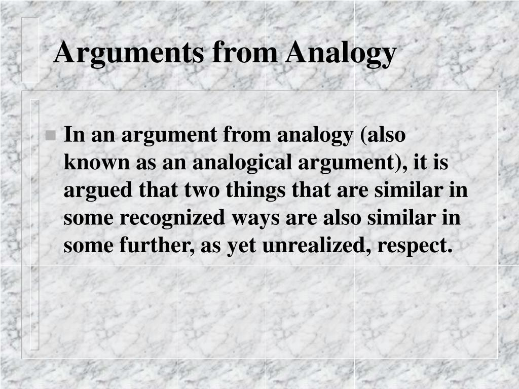 Arguments from Analogy
