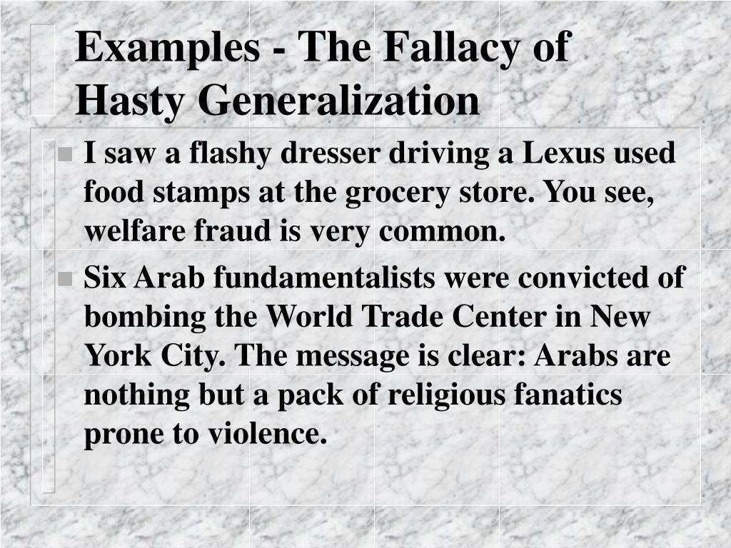 Examples - The Fallacy of