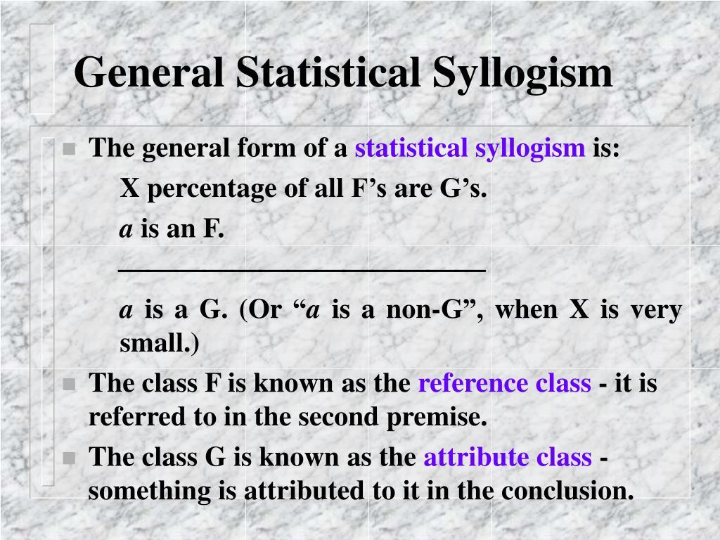 General Statistical Syllogism