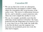 causation iii