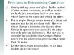problems in determining causation