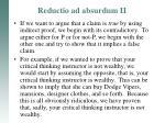 reductio ad absurdum ii