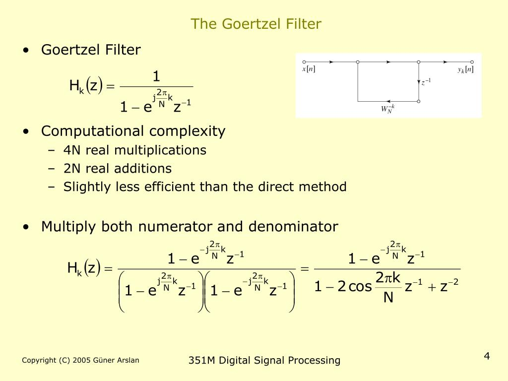 The Goertzel Filter