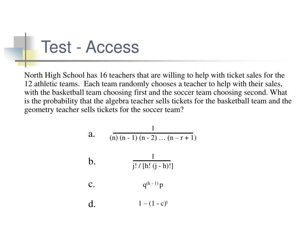 Test - Access