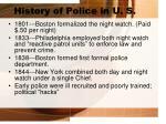 history of police in u s