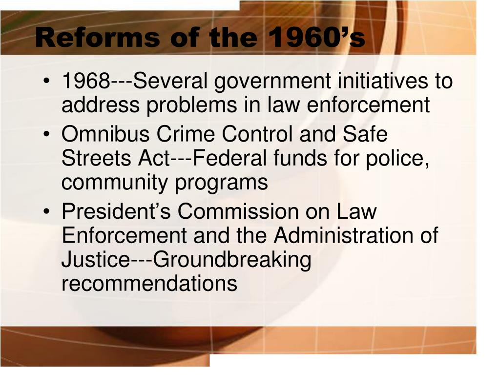 Reforms of the 1960's