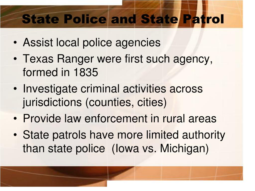 State Police and State Patrol