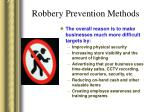 robbery prevention methods