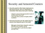 security and armored couriers