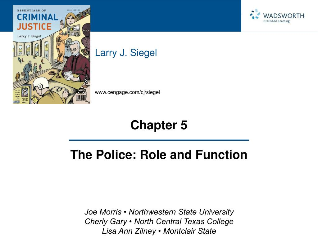 chapter 5 the police role and function l.