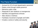 the patrol function