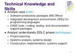 technical knowledge and skills