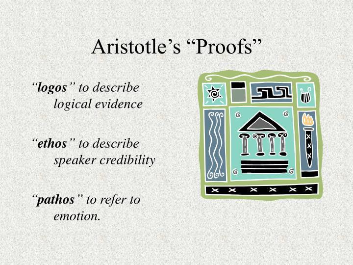 Aristotle s proofs